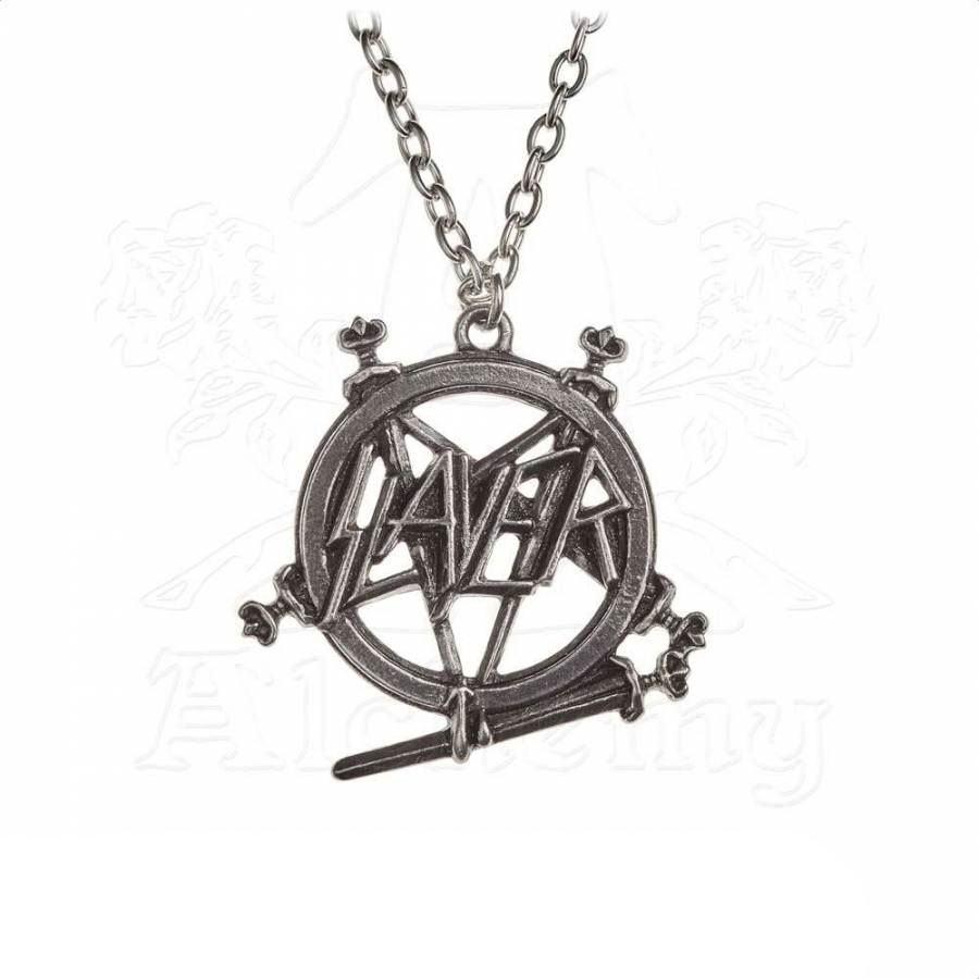 Slayer Pendant with Chain Pentagram Logo
