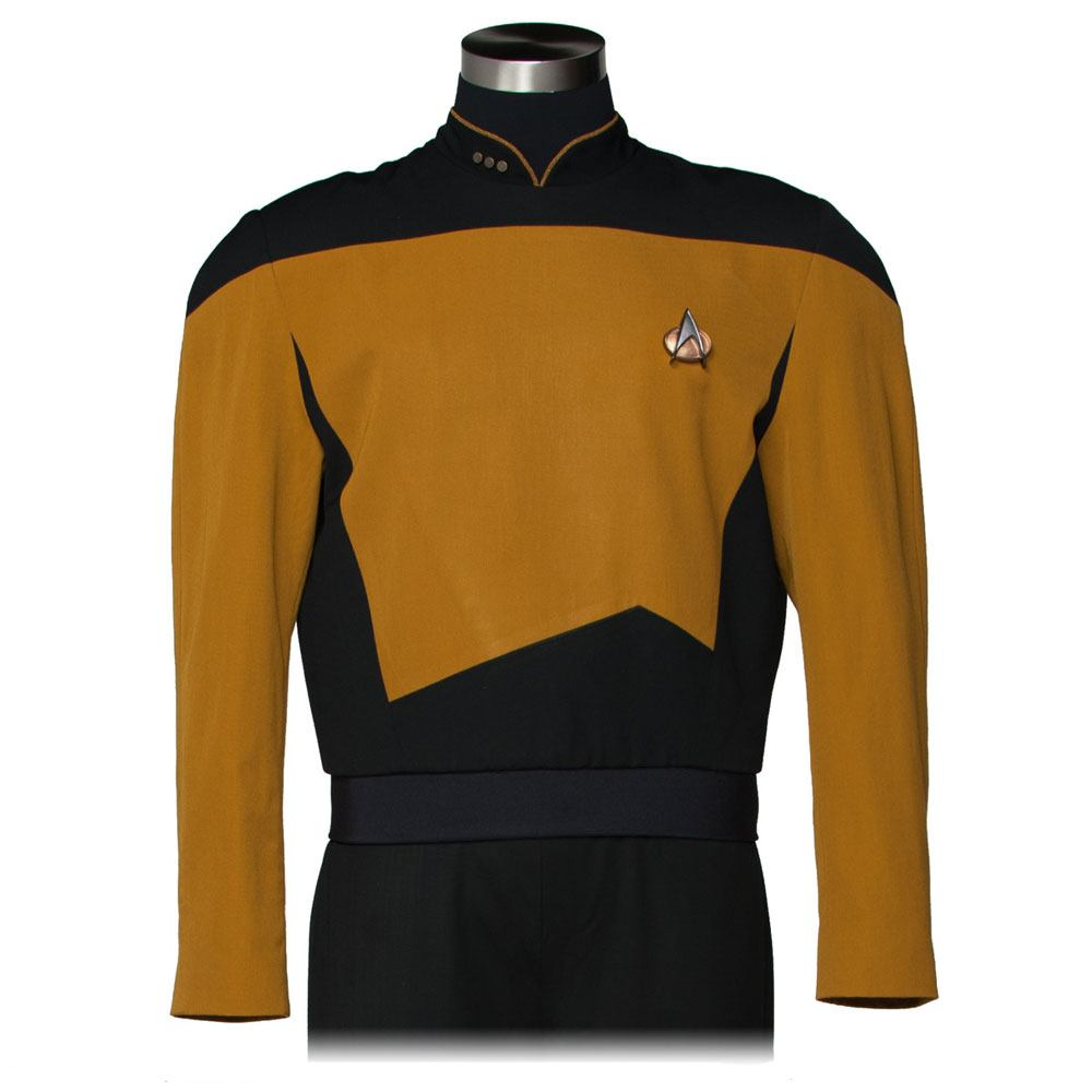Star Trek The Next Generation Replica Services Mustard Tunic Size L