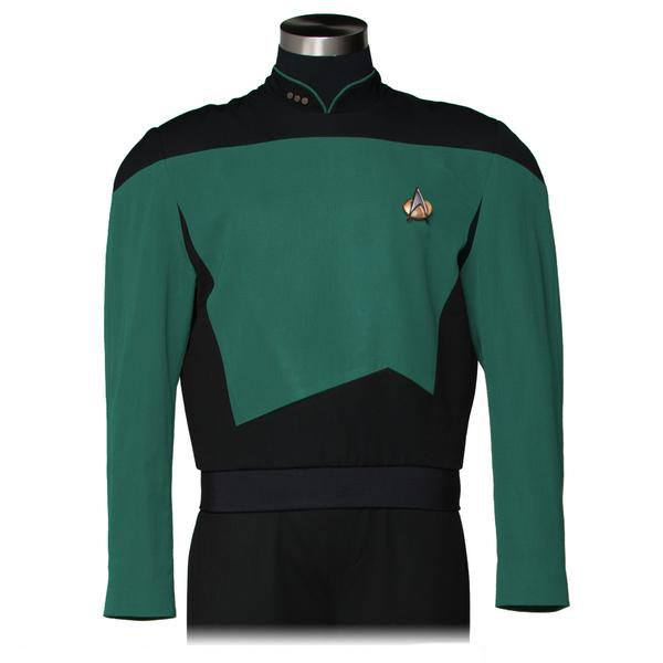 Star Trek The Next Generation Replica Sciences Teal Green Tunic Size L