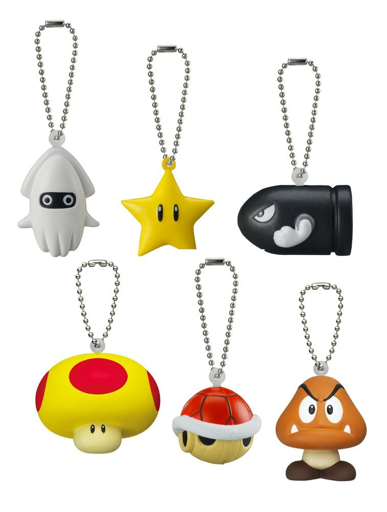 New Super Mario Bros. Keychain 4 cm Display Soft Squeezed Mascot (18)