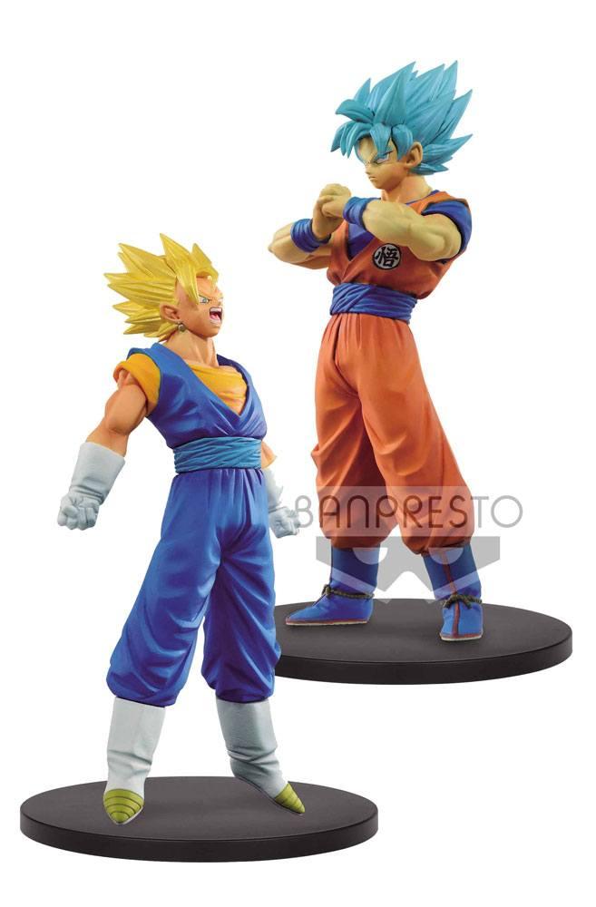 Dragonball Super Warriors DXF Figures 18 cm SSJ Vegetto & SSJ Blue Goku Assortment (2)