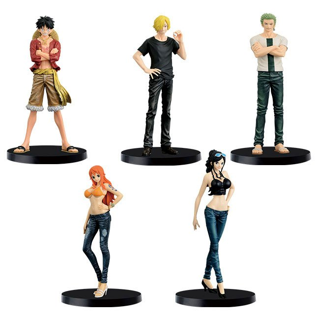One Piece Jeans Freak Figures 17 cm Assortment Mugiwara Pirates Special Color Ver. (16)