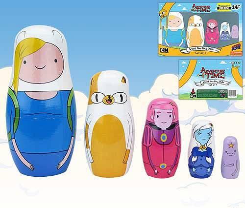 Adventure Time Nesting Dolls Set Fionna & Cake EE Exclusive 15 cm