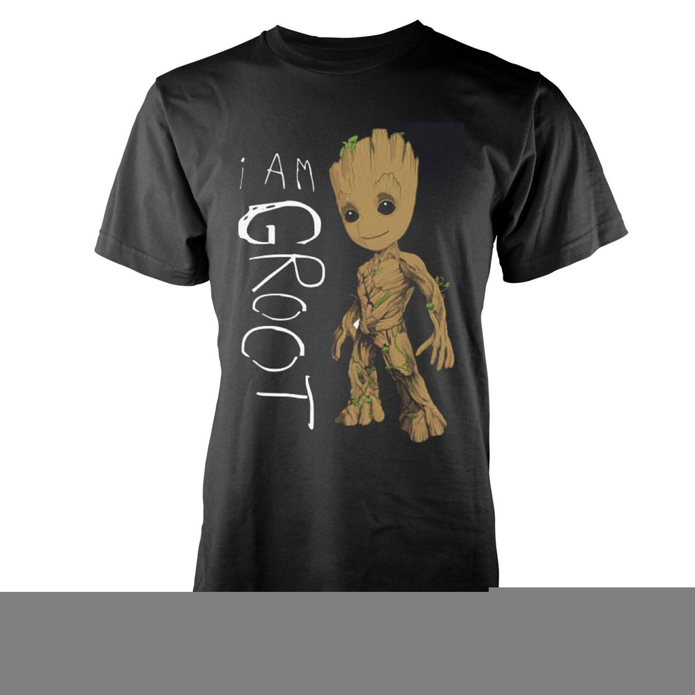Camiseta I AM GROOT Color Negro