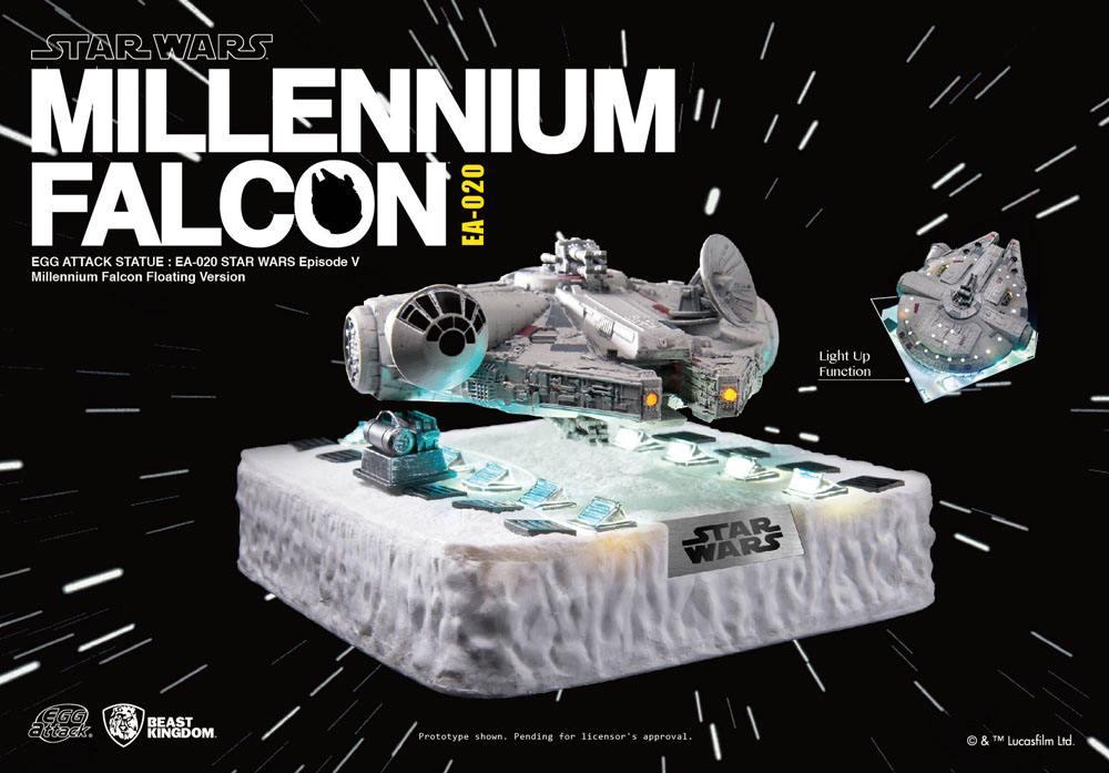 Star Wars Egg Attack Floating Model with Light Up Function Millennium Falcon (Episode V) 14 cm