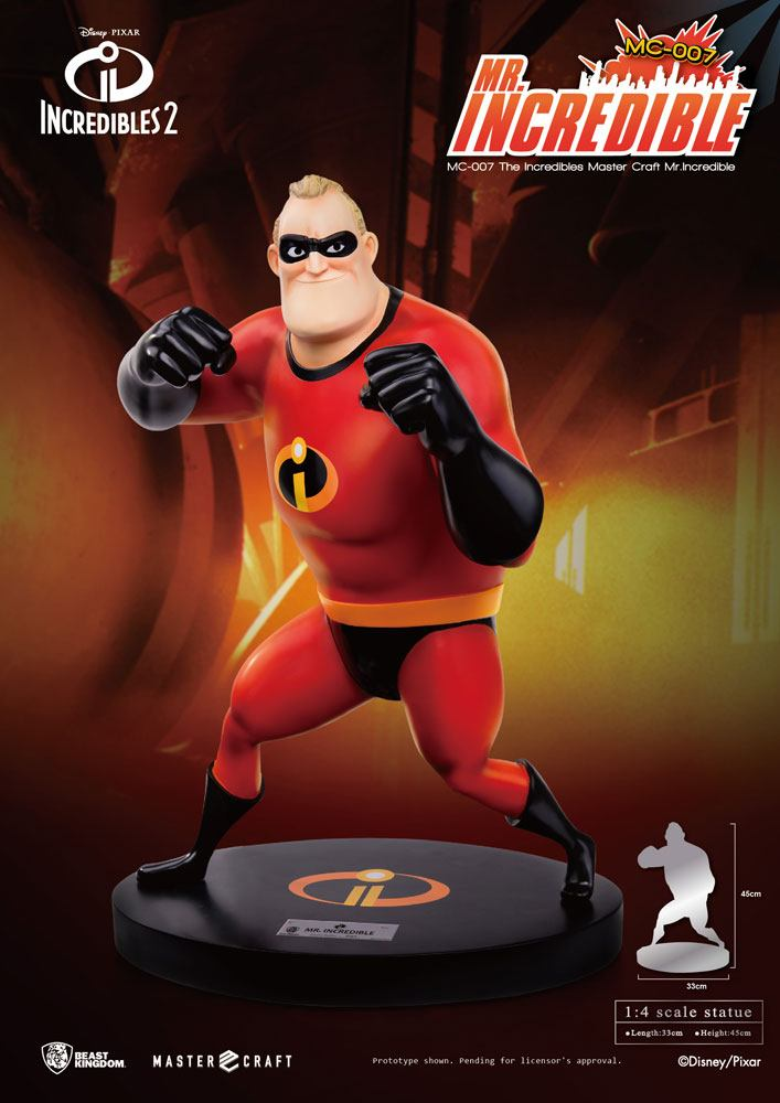 Mr. Incredible The Incredibles 2 Master Craft 1/4 Statue by Beast Kingdom Toys