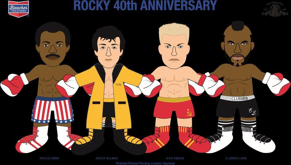 Rocky Plush Figure 40th Anniversary Rocky Gold Robe 25 cm