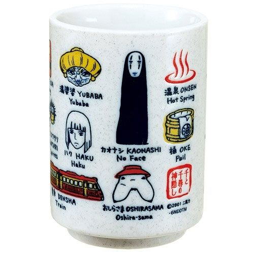 Spirited Away Japanese Tea Cup Characters