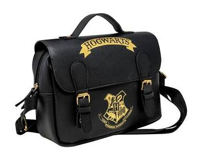 Harry Potter Lunch Bag Hogwarts Black & Gold (Satchel Style)
