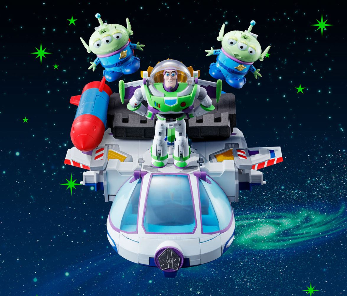 Toy Story Chogokin Diecast Action Figure 5-Pack Chogattai Buzz The Space Ranger Robo 20 cm
