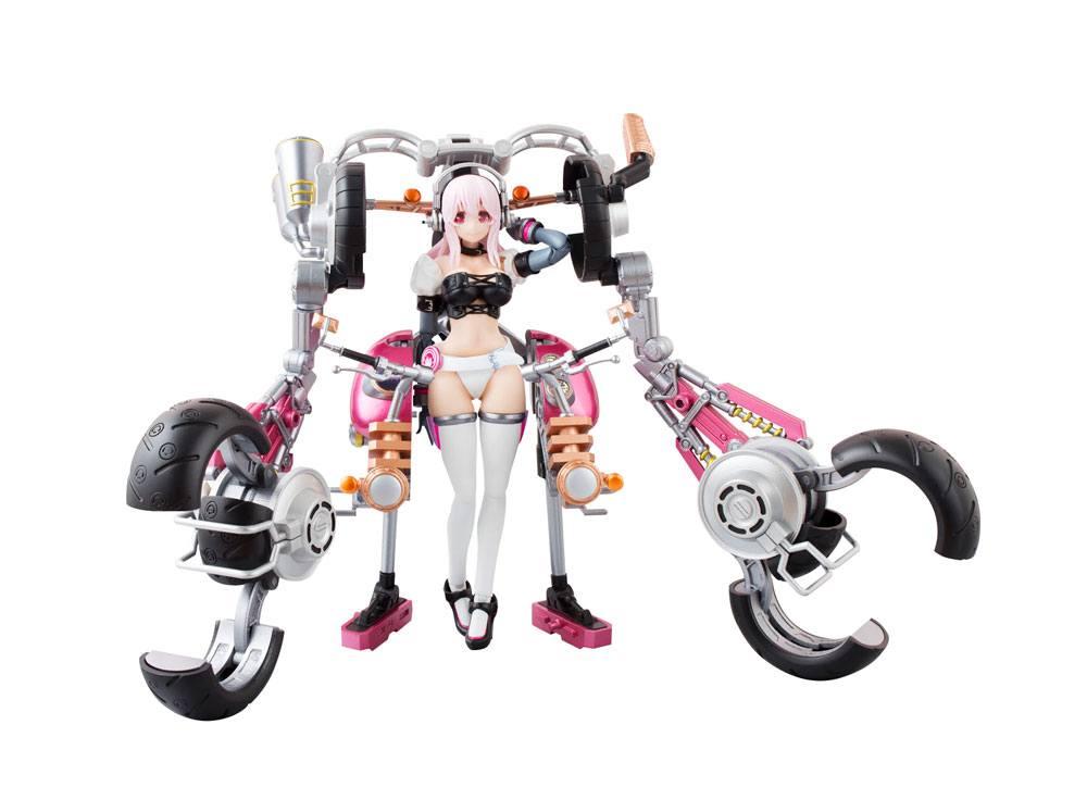 Nitro Super Sonic AGP Action Figure Super Sonico with Super Bike Robo 14 cm