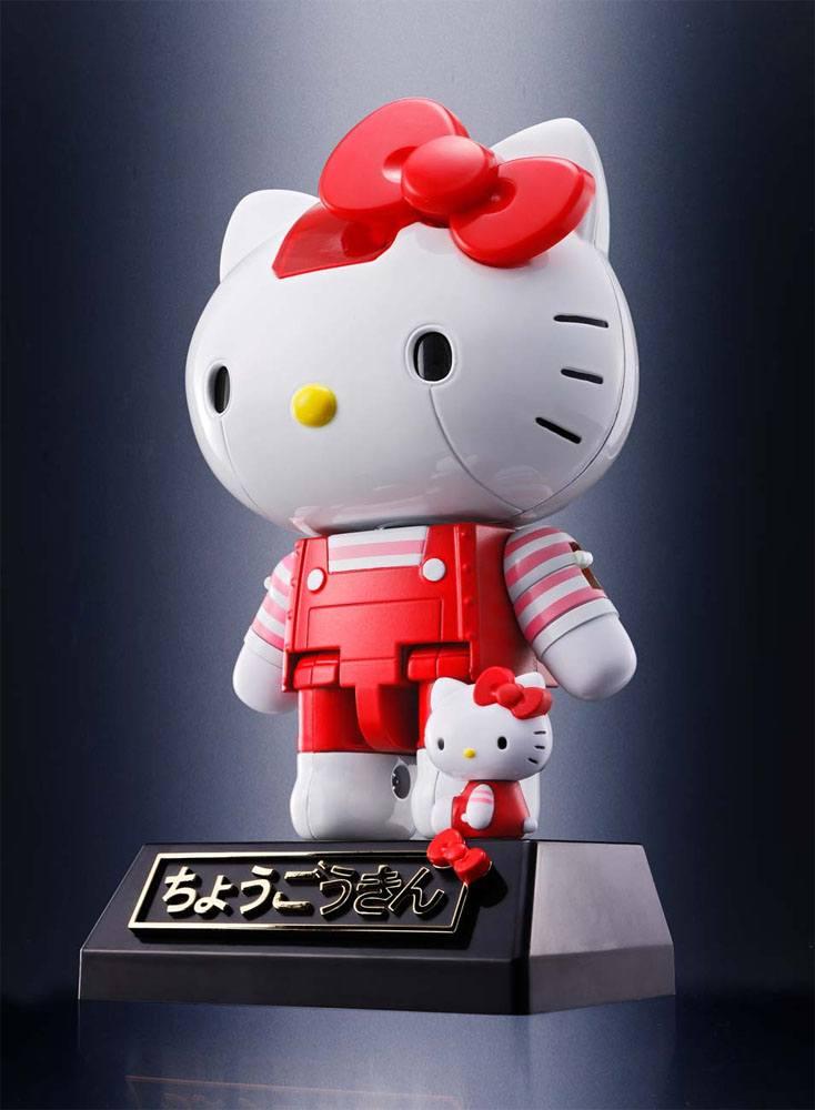 Hello Kitty Chogokin Diecast Action Figure Red Stripe Ver. 10 cm