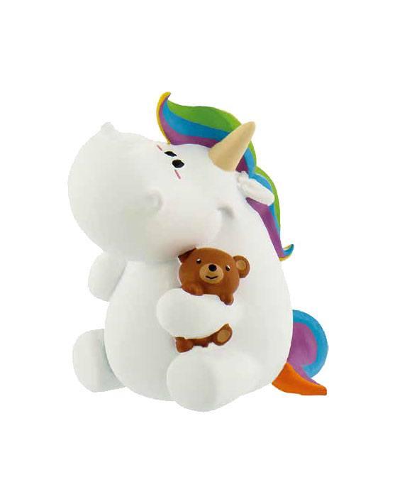 Chubby Unicorn Figure Chubby with Teddy 6 cm