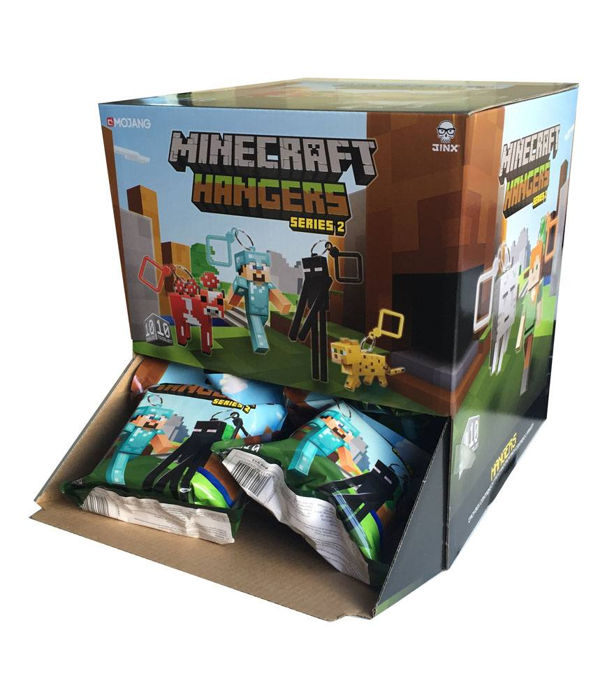 Minecraft Hangers Keychains Series 2 Mystery Bags Display (24)