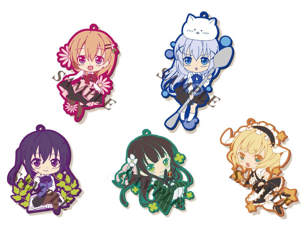 Is the Order a Rabbit? Rubber Charms 6 cm Assortment Toy'sworks Collection Niitengomu! (6 )