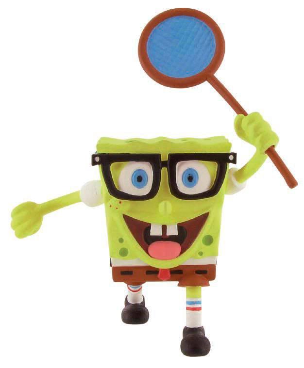 SpongeBob Square Pants Mini Figure SpongeBob butterfly net 7 cm