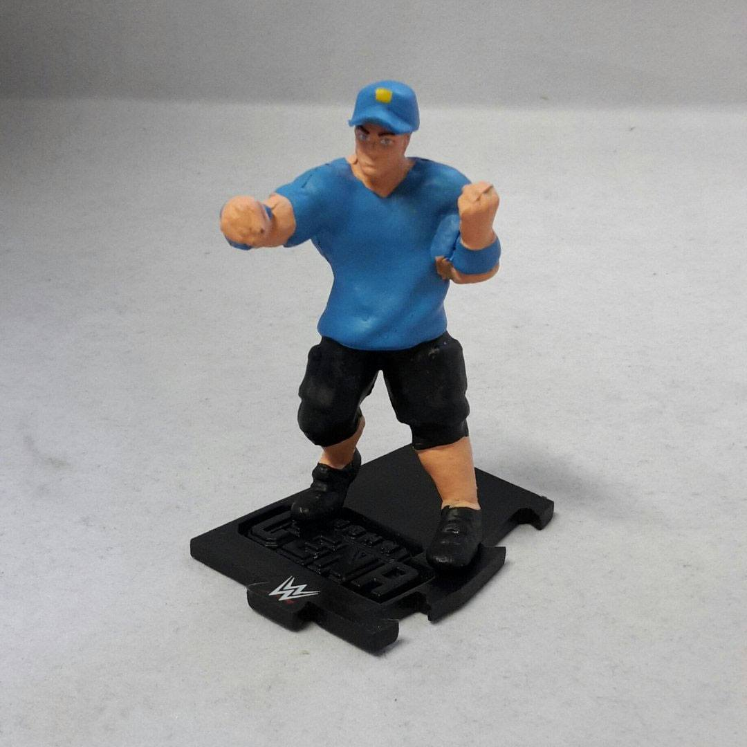 WWE Wrestling Mini Figure John Cena Blue Shirt 8 cm