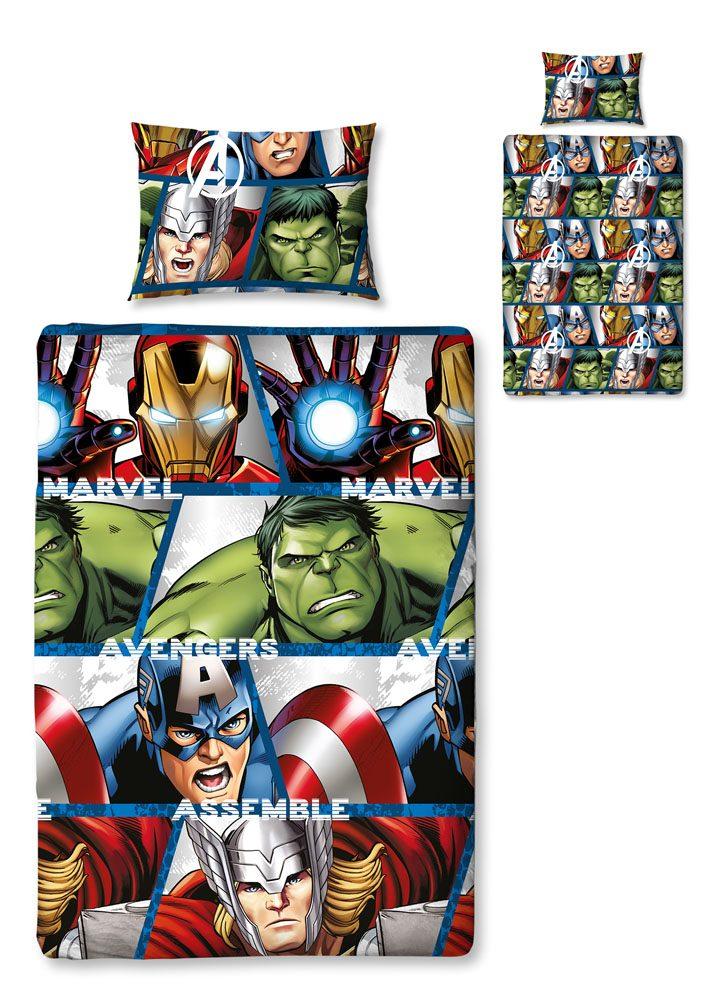 The Avengers Duvet Set Reversible Rotary Shield 135 x 200 cm / 48 x 74 cm