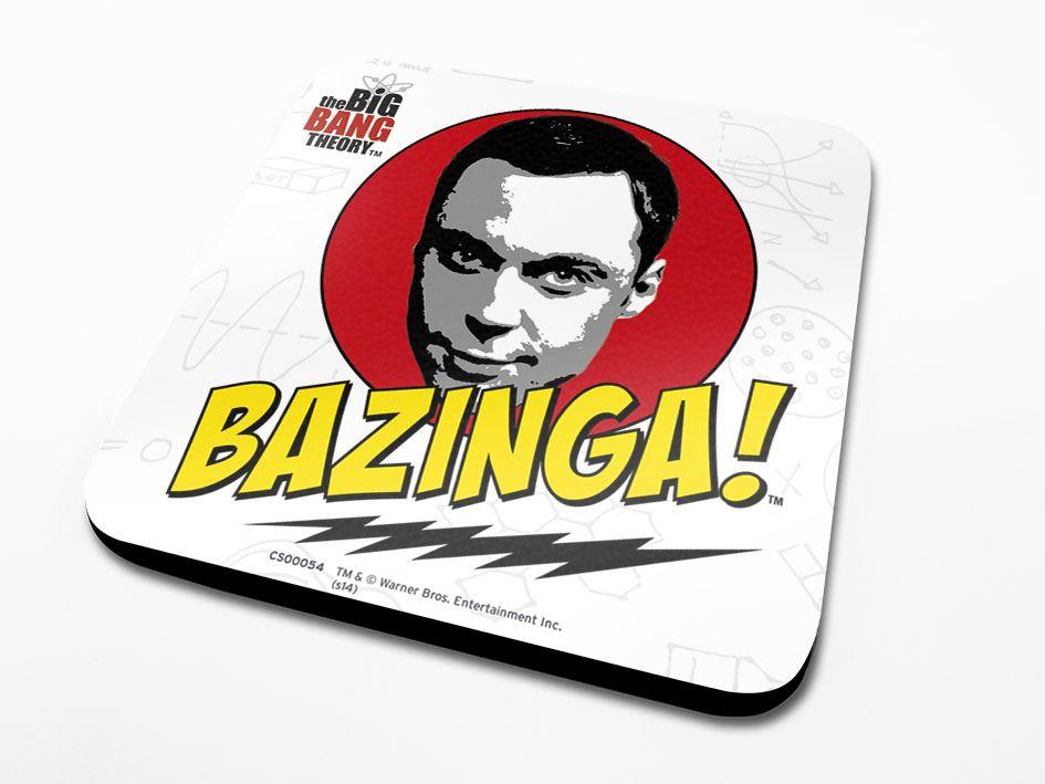 The Big Bang Theory Coaster Bazinga 6-Pack
