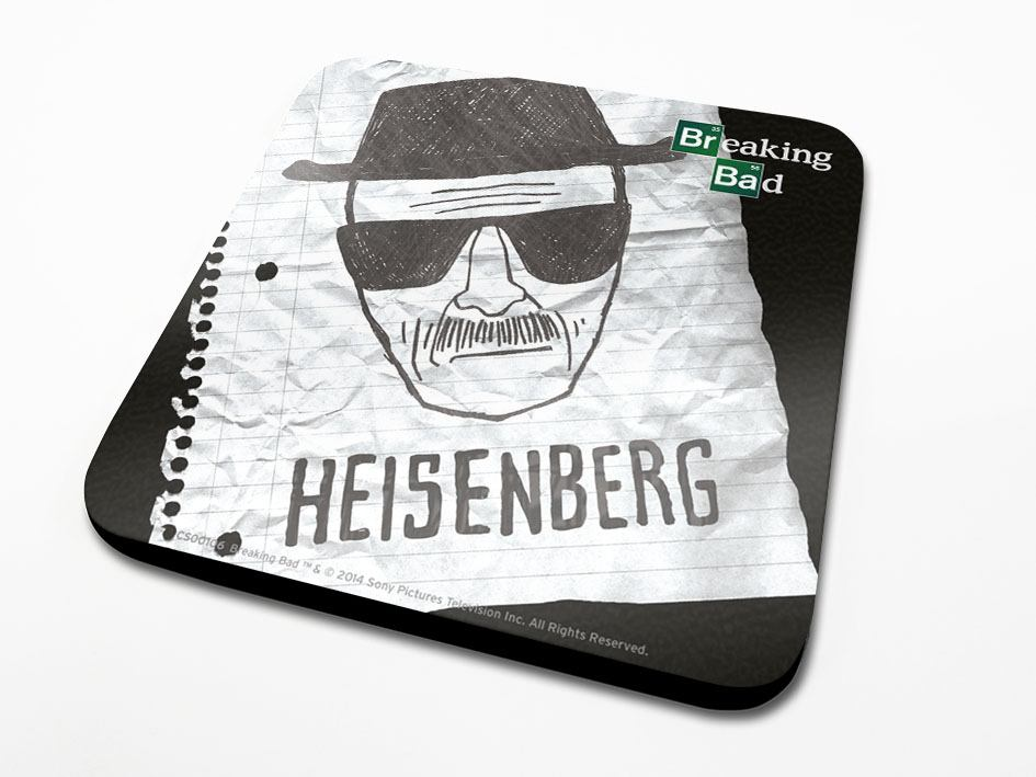 Breaking Bad Coaster Heisenberg Paper 6-Pack