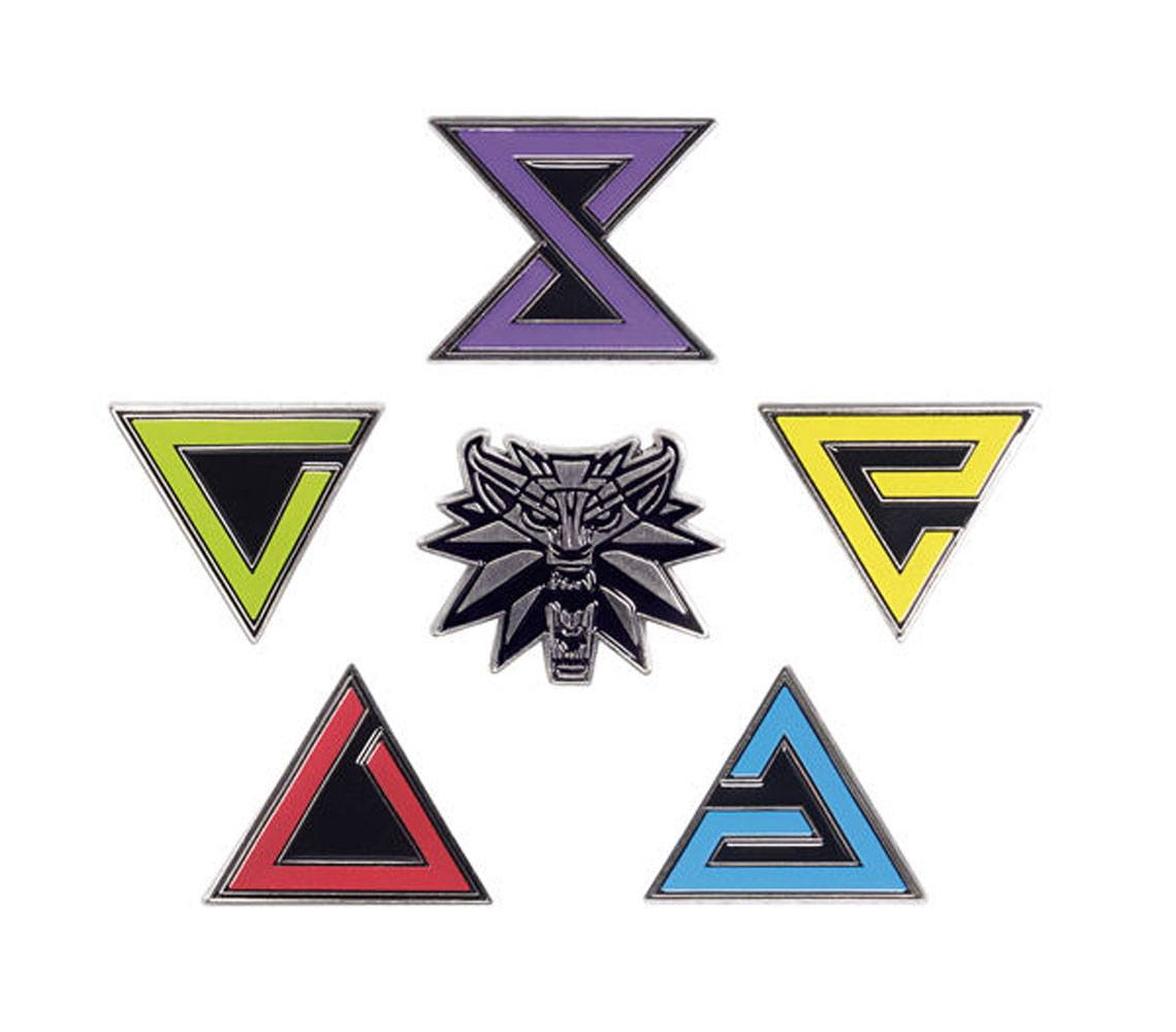 Witcher 3 Wild Hunt Pin Badges 6-Pack