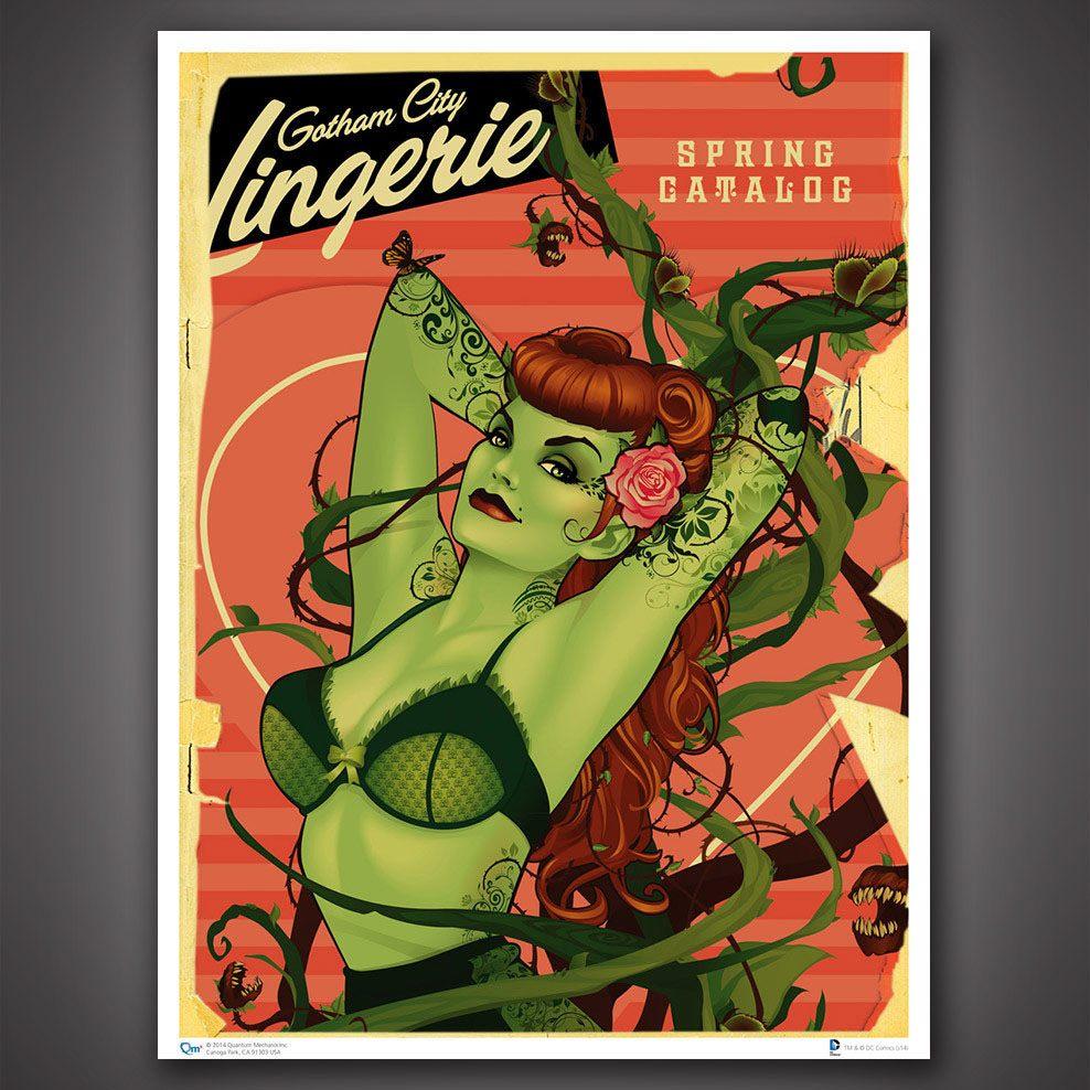 DC Comics Bombshells Art Print Poison Ivy 46 x 61 cm