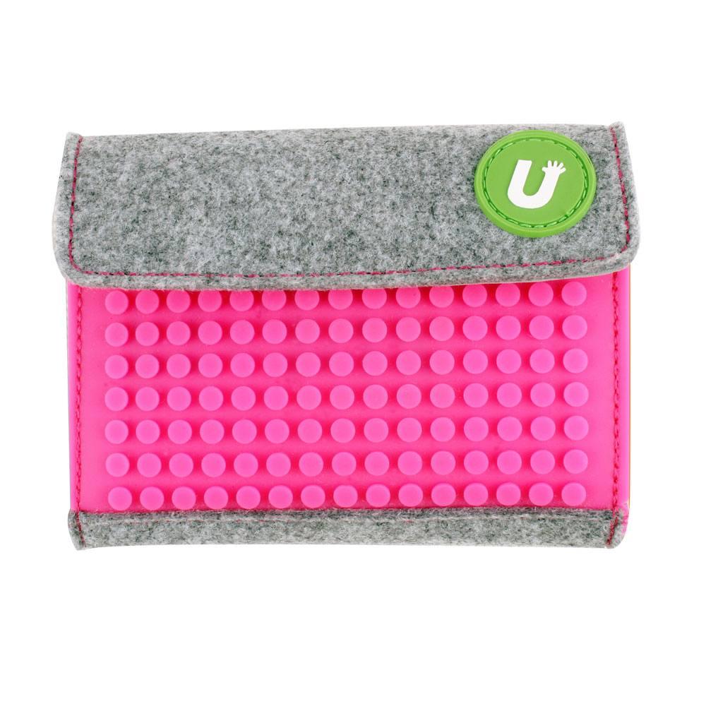 Upixel Felt Pixel Mini Wallet Fuchsia