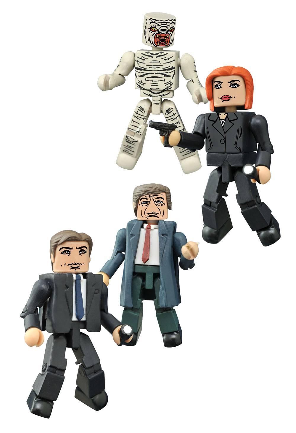 The X-Files Minimates Action Figures 5 cm Series 1 Box Set