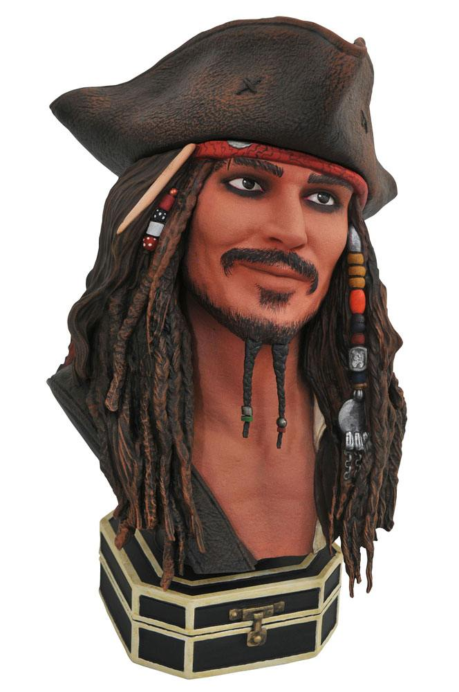 Jack Sparrow Pirates of the Caribbean Legends in 3D 1/2 Bust by Diamond Select