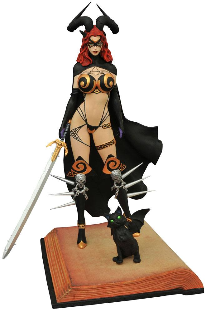Tarot Witch of the Black Rose Femme Fatales PVC Statue Tarot Verion 2 23 cm