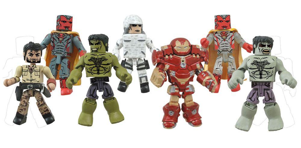 Marvel Minimates Action Figures 5 cm 2-Packs Series 63 Avengers Age of Ultron Assortment (12)