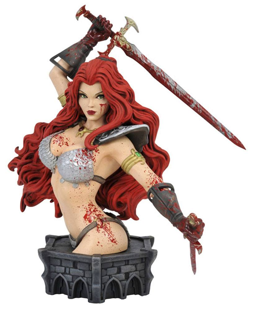 Women of Dynamite Bust Red Sonja Blood Variant 19 cm