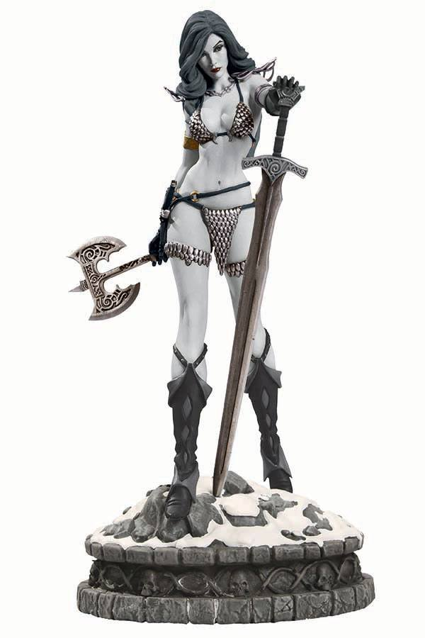 Women of Dynamite Statue Red Sonja Limited Black & White Variant 29 cm