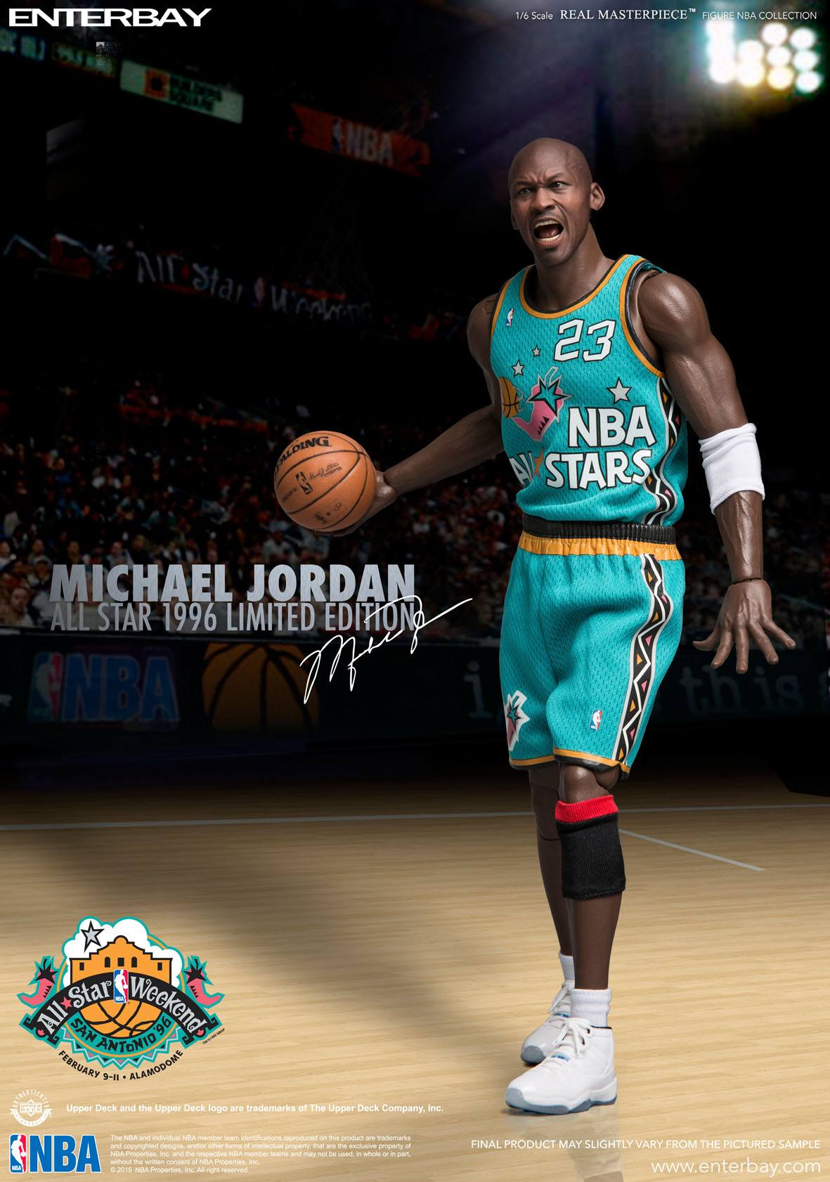 NBA Collection Real Masterpiece Actionfigur 1/6 Michael Jordan (All Star Game 1996) 33 cm