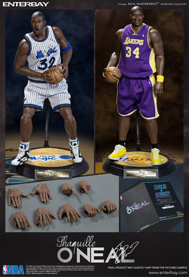 NBA Collection Real Masterpiece Actionfigur 1/6 Shaquille O'Neal Limited Edition Duo Pack 37 cm