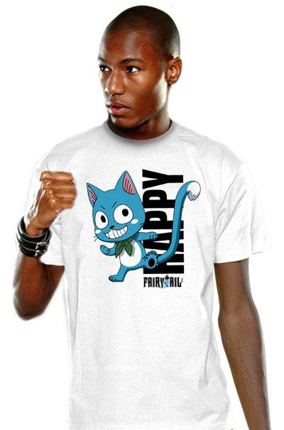 Fairy Tail T-Shirt Happy Blue Size S