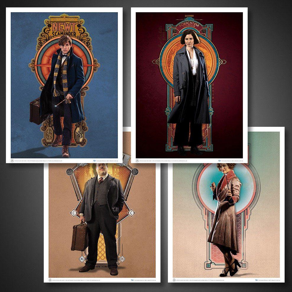 Fantastic Beasts Poster Set Art Prints #03 The Cast