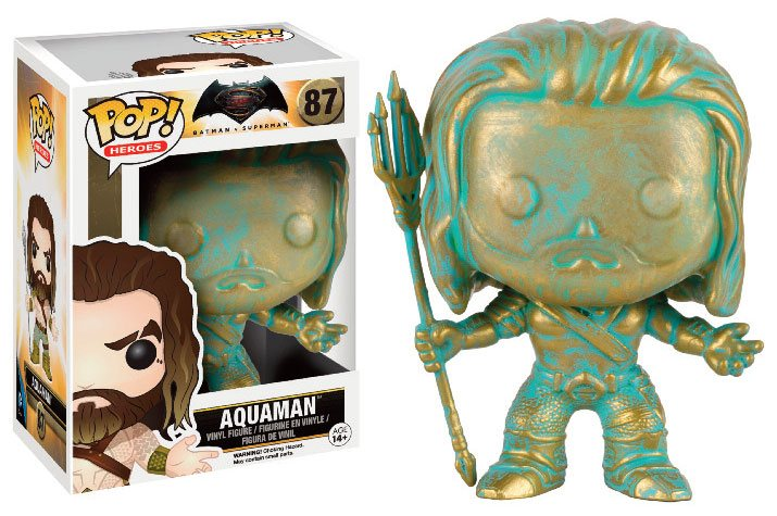 Batman v Superman POP! Heroes Vinyl Figure Aquaman (Patina) 9 cm