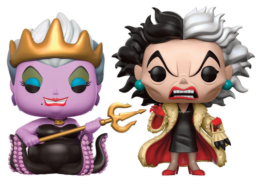 Disney Baddies POP! Disney Vinyl Figures 2-Pack Ursula & Cruella 9 cm