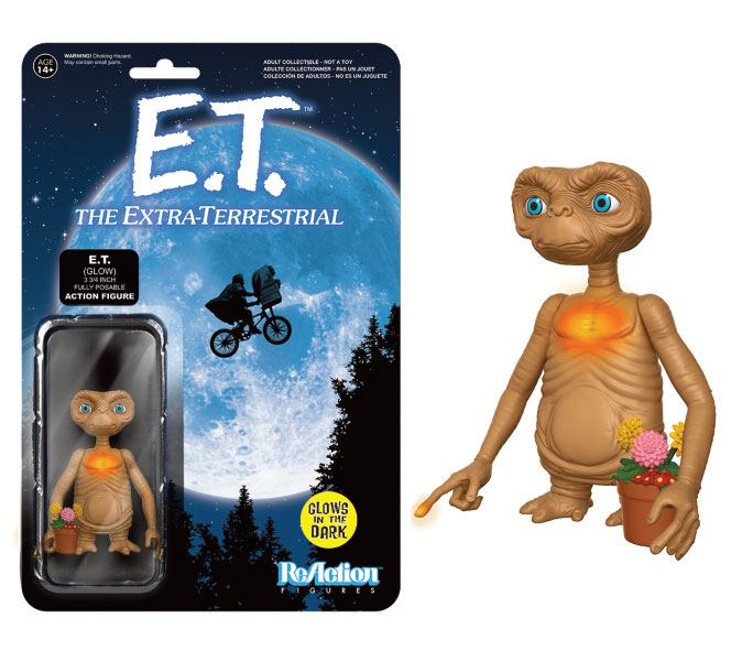 E.T. the Extra-Terrestrial ReAction Action Figure E.T. GITD 8 cm