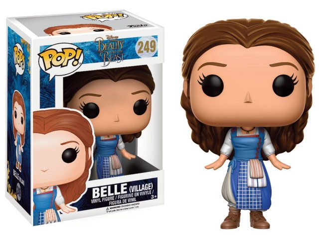 Beauty and the Beast POP! Disney Vinyl Figure Belle (Village Outfit) 9 cm