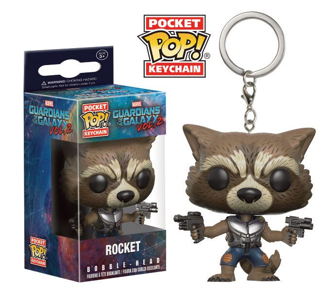 Guardians of the Galaxy Vol. 2 Pocket POP! Vinyl Keychain Rocket 4 cm