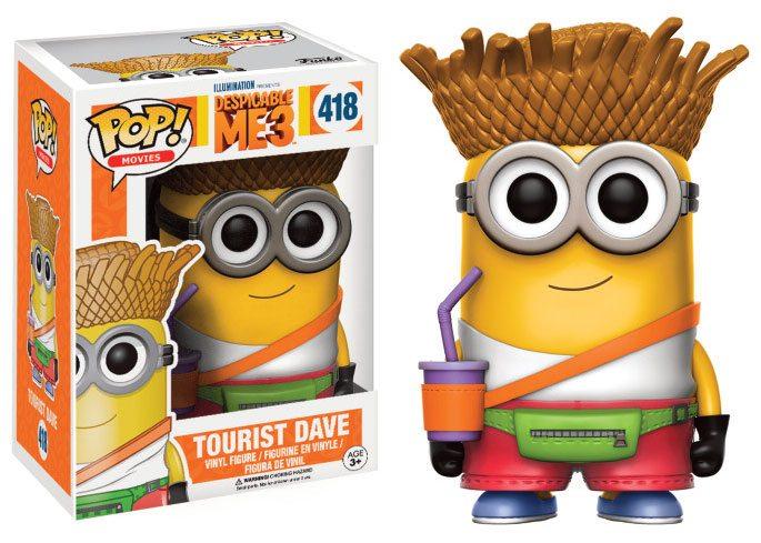 Despicable Me 3 POP! Movies Vinyl Figure Tourist Dave 9 cm