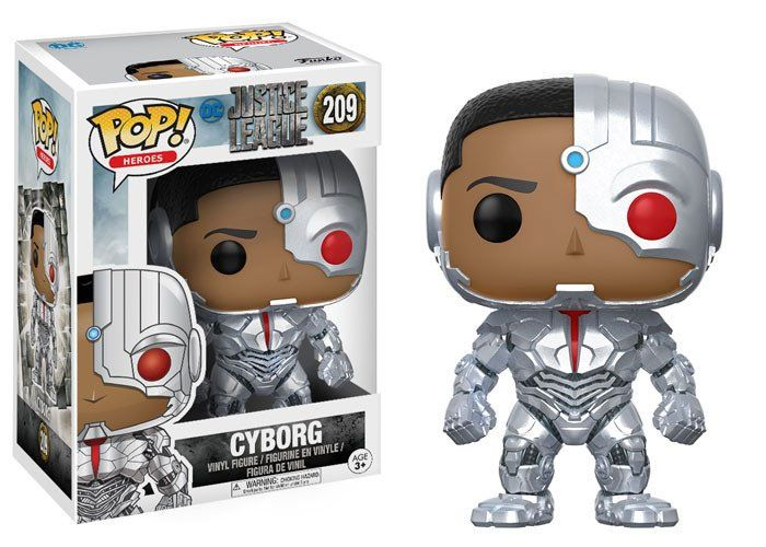 Justice League Movie POP! Movies Vinyl Figure Cyborg 9 cm