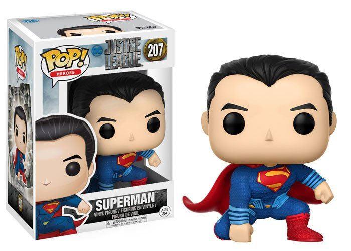 Justice League Movie POP! Movies Vinyl Figure Superman (Landing Pose) 9 cm