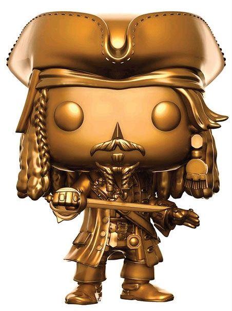 Pirates of the Caribbean Dead Men Tell No Tales POP! Movies Vinyl Figure Jack Sparrow Gold Ver. 9 cm