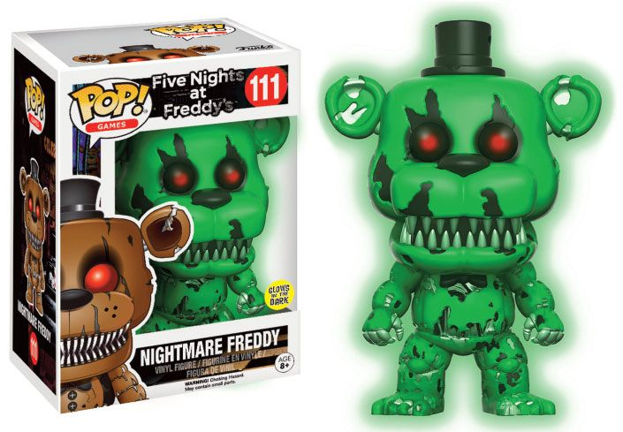 Five Nights at Freddy's POP! Games Vinyl Figure Nightmare Freddy GITD 9 cm