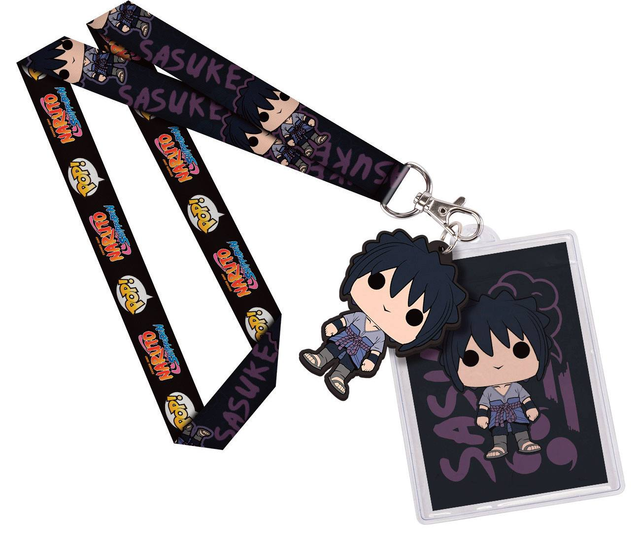 Naruto POP! Lanyard with Rubber Keychain Sasuke