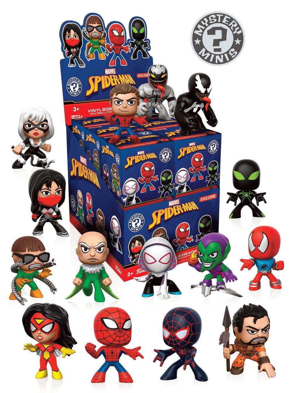 Marvel Comics Mystery Mini Figures 5 cm Display Spider-Man Variant Mix 2 (12)