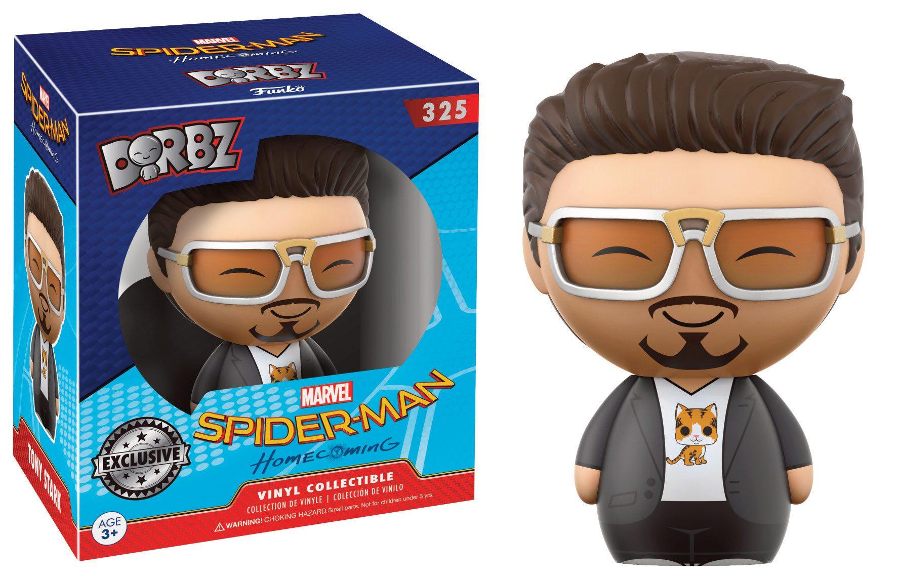 Spider-Man Homecoming Dorbz Vinyl Figure Tony Stark 8 cm